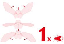 Fliegen-stilisierte Flugbewegubg