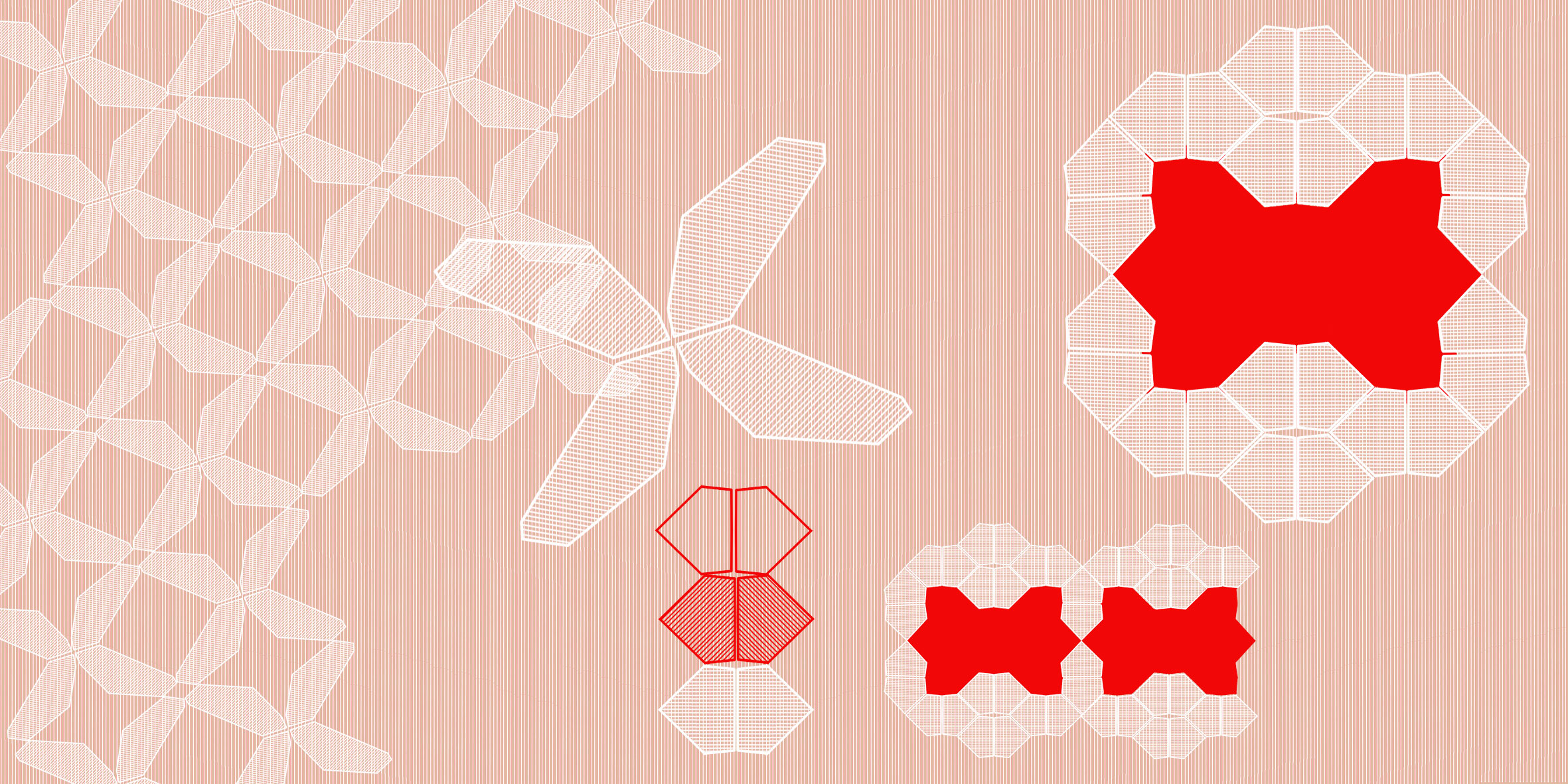 die geometrisierten Module um Wechselspiel mit der Rippenstruktur